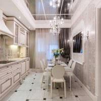 вариант красивого интерьера комнаты в стиле современная классика картинка