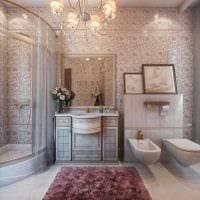 вариант красивого дизайна ванной в классическом стиле фото