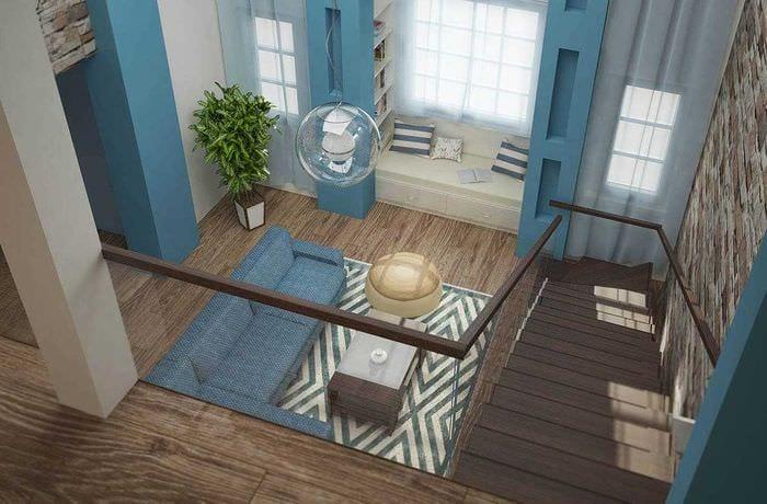идея красивого стиля квартиры со вторым светом