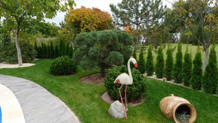 идея современного дизайна двора