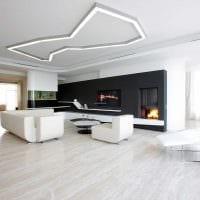 идея светлого декора гостиной в частном доме картинка
