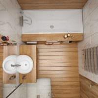 идея красивого дизайна ванной комнаты 3 кв.м картинка