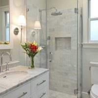 вариант красивого стиля ванной комнаты 4 кв.м фото