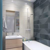 идея необычного интерьера ванной 6 кв.м картинка