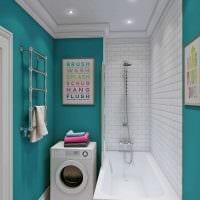 вариант современного интерьера ванной 3 кв.м фото