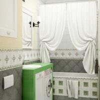 вариант современного дизайна ванной 6 кв.м картинка