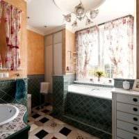 вариант необычного интерьера большой ванной комнаты фото