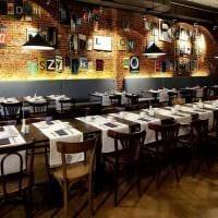 идея необычного интерьера ресторана в стиле лофт фото