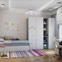 вариант необычного стиля квартиры в светлых тонах в современном стиле фото
