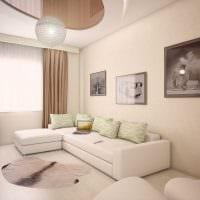 вариант светлого интерьера современной квартиры 70 кв.м фото