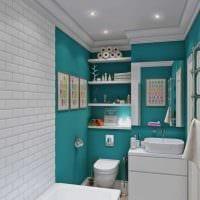 идея красивого интерьера ванной комнаты 2017 фото