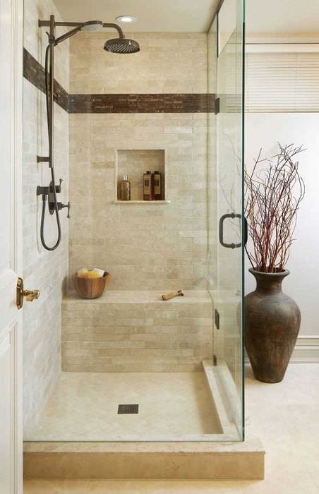 идея красивого интерьера ванной комнаты 4 кв.м