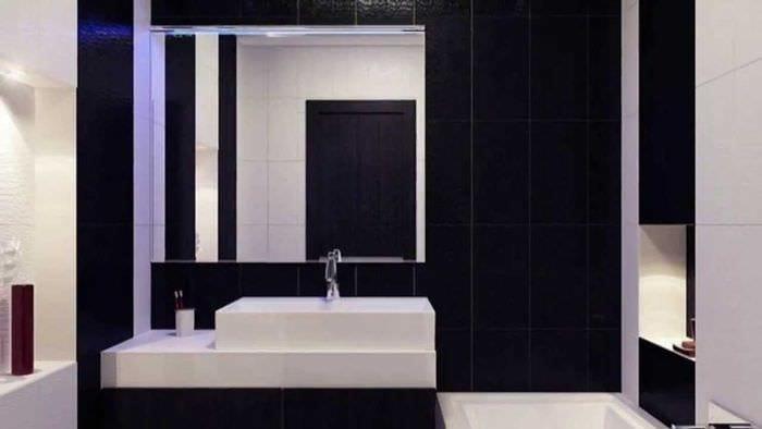 вариант современного дизайна ванной 6 кв.м