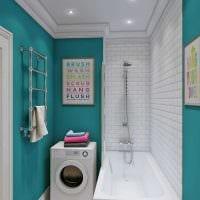 вариант необычного интерьера ванной 2017 фото