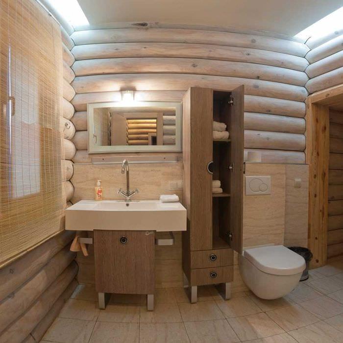 санузел фото дизайн в деревянном доме