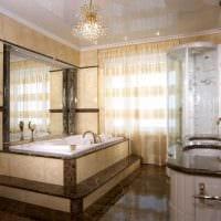 идея яркого декора ванной комнаты в классическом стиле фото