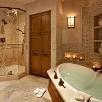 идея современного стиля большой ванной картинка