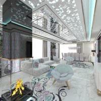 вариант светлого стиля зала в частном доме картинка