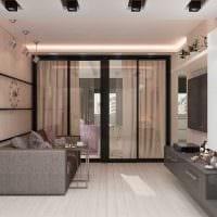 вариант яркого декора современной квартиры 70 кв.м фото