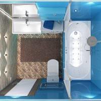 идея яркого дизайна ванной 3 кв.м фото