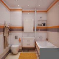 вариант яркого дизайна ванной 4 кв.м фото