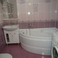 идея необычного стиля ванной комнаты 3 кв.м картинка