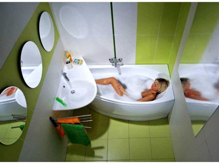 идея красивого дизайна ванной комнаты 3 кв.м