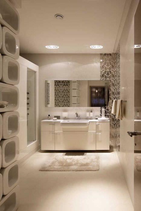 идея красивого стиля ванной комнаты в классическом стиле