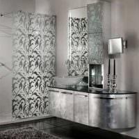 вариант необычного дизайна ванной комнаты в черно-белых тонах фото