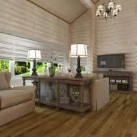 идея яркого дизайна гостиной в частном доме фото