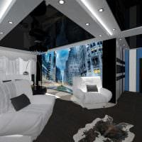 пример яркого декора современной квартиры 50 кв.м фото