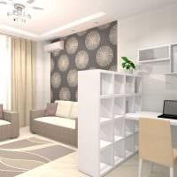 пример яркого интерьера современной квартиры 65 кв.м фото