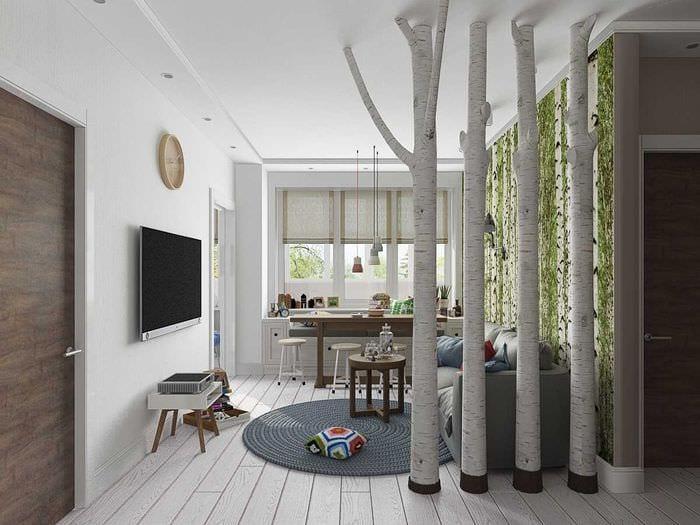 вариант светлого интерьера квартиры 65 кв.м