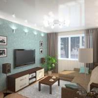 пример яркого стиля гостиной комнаты 2018 картинка