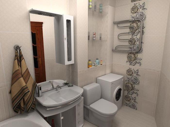 Ванная 5м2 дизайн фото