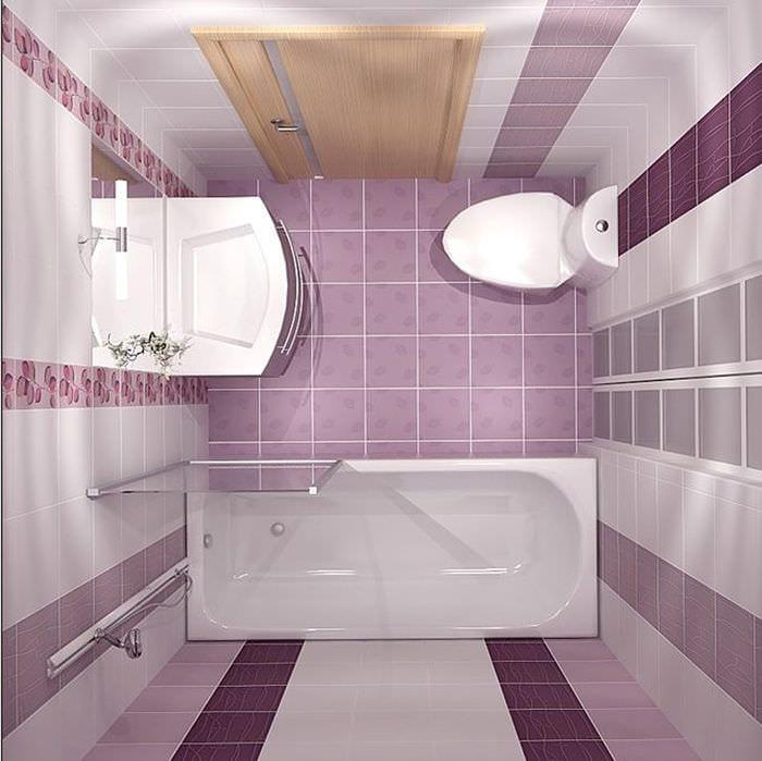 вариант светлого дизайна ванной в хрущевке
