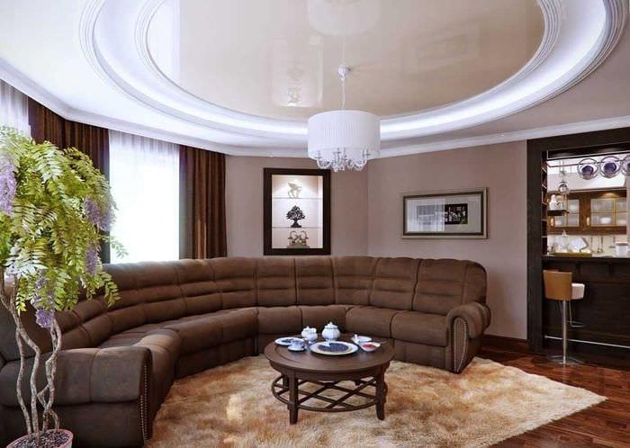 вариант светлого дизайна современной квартиры 65 кв.м