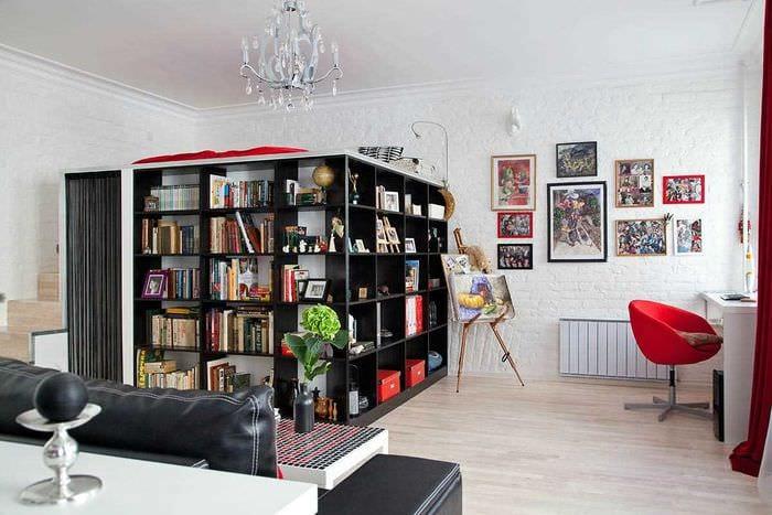 пример необычного дизайна квартиры 50 кв.м