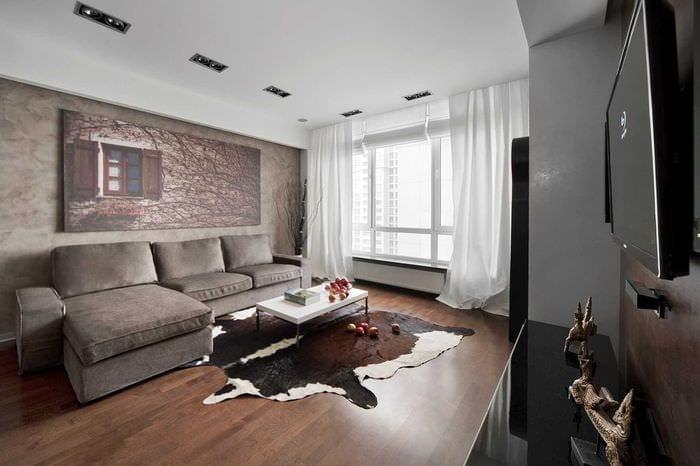 вариант красивого интерьера современной квартиры 70 кв.м