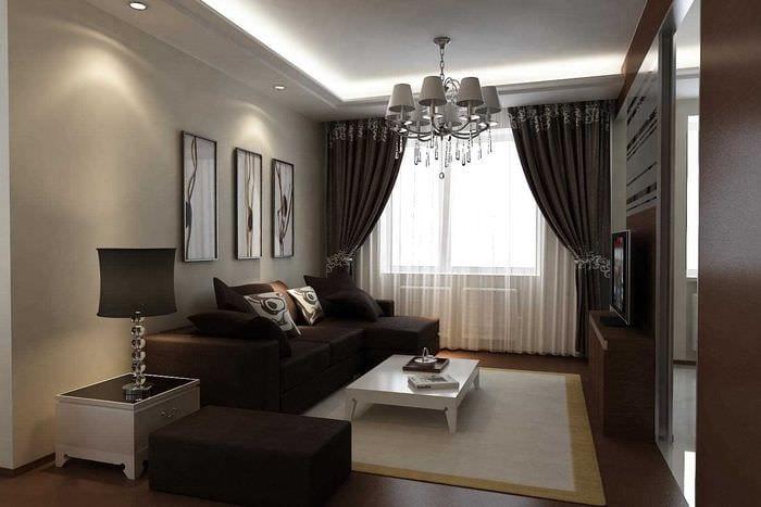 пример красивого интерьера квартиры 70 кв.м