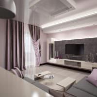 вариант необычного стиля гостиной 16 кв.м фото
