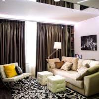 пример светлого интерьера гостиной комнаты 16 кв.м фото