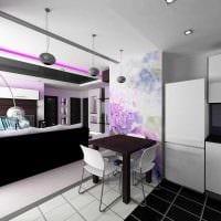 пример яркого дизайна квартиры 50 кв.м фото