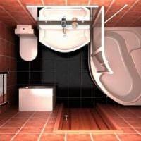 вариант красивого дизайна ванной комнаты 5 кв.м фото