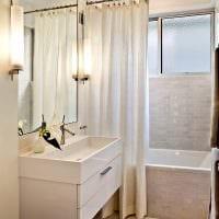 вариант яркого дизайна ванной в бежевом цвете картинка