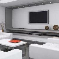 вариант светлого дизайна гостиной комнаты 25 кв.м картинка