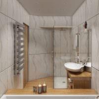 вариант светлого дизайна ванной 5 кв.м картинка