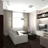 пример необычного декора гостиной в стиле минимализм фото