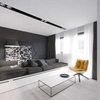пример красивого дизайна современной квартиры 50 кв.м фото