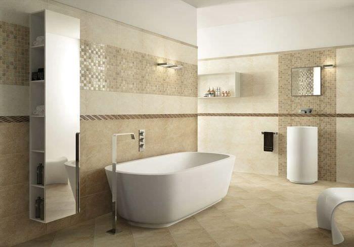 Badezimmer Beige Grau